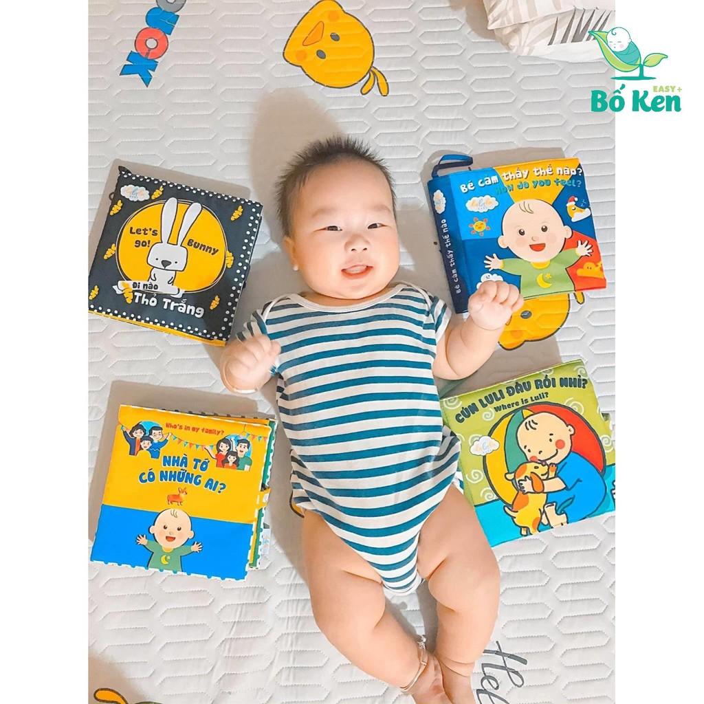 Bộ Sách vải Lalala baby Song Ngữ Bé Yêu Thích Nhất [Tủ Sách Shop Bố Ken]