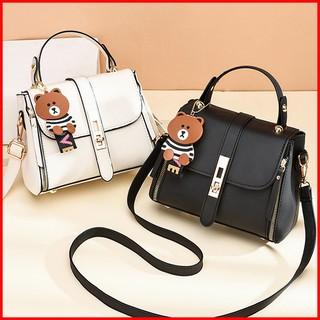 Túi xách nữ đeo chéo đi chơi thời trang Hàn Quốc 2021 - Túi đeo chéo nữ đẹp giá rẻ - Màu xanh, trắng, đen, hồng_MS4639
