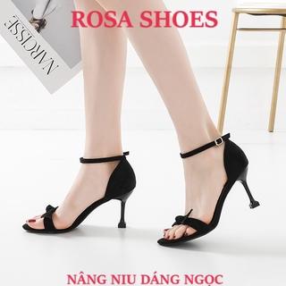 Giày gót nhọn GIÀY CAO GÓT SANDAL QUAI NƠ Ú GÓT NHỌN 8 cm Mys Rosa Shoes