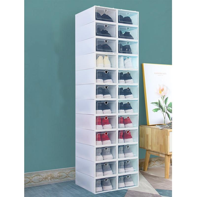 Hộp đựng giày nắp lật tiện ích bằng nhựa dẻo (FSB05)