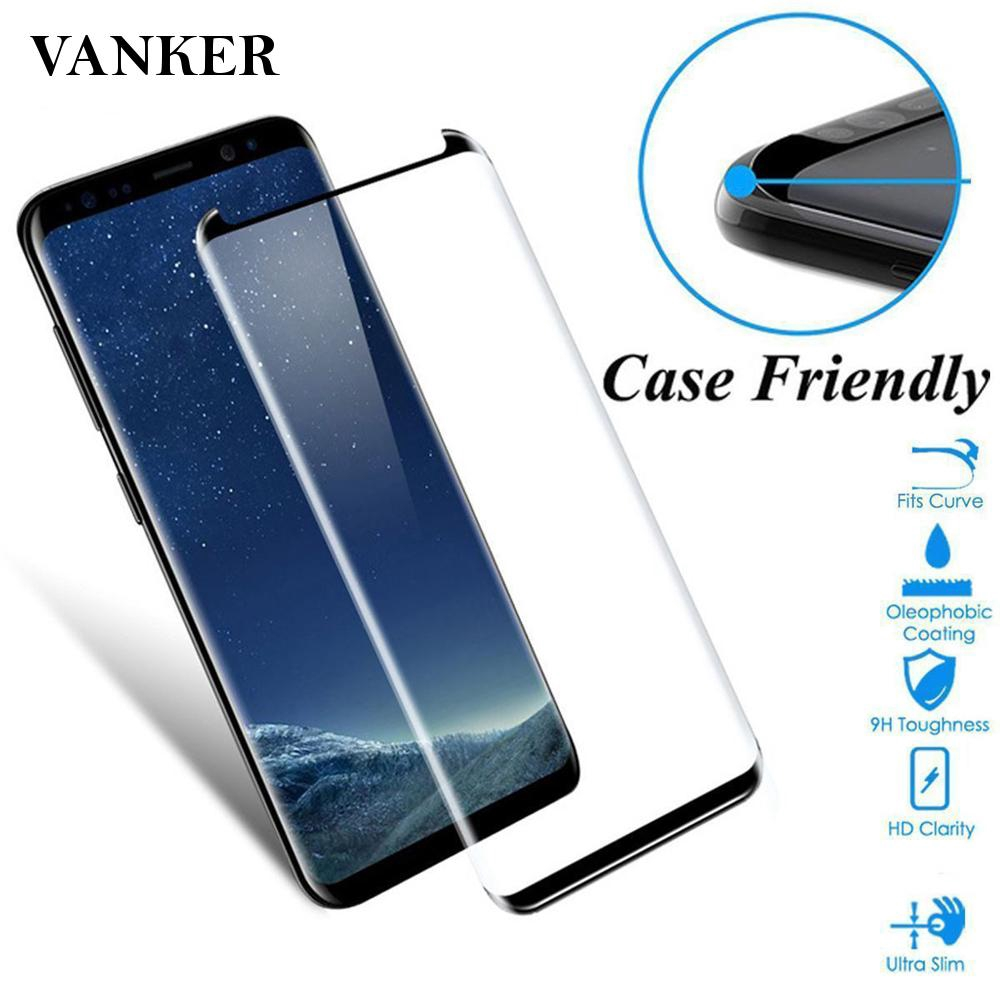2Pcs 9H Screen Protector Film Curved For Samsung Galaxy S8 Tempered Glass Cute