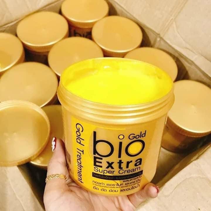 Kem ủ tóc Bio Gold Extra Super Cream phục hồi tóc siêu mượt 390gr