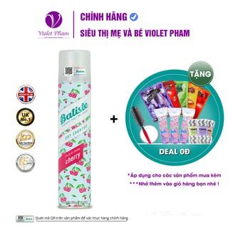 [QUÀ TẶNG 0Đ] Dầu Gội Khô Hương Anh Đào - Batiste Dry Shampoo Fruity & Cheeky Cherry 200ml