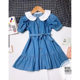 Đầm Jean Denim Bé Gái, Đầm Bé Gái Siêu Xinh, Đầm Bé Gái Cao Cấp Từ 5-10 Tuổi