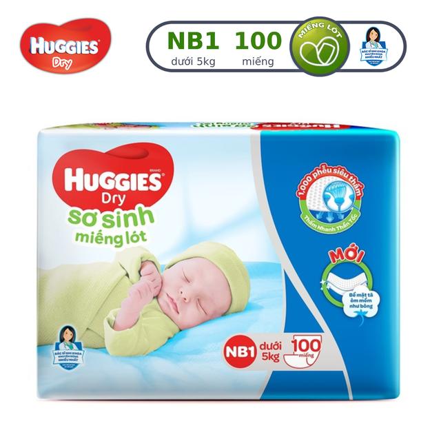 Miếng lót Sơ Sinh Huggies NB1 100 miếng/gói