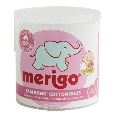 Tăm bông Bạch Tuyết Merigo tiệt trùng (55-330 que) cho trẻ em