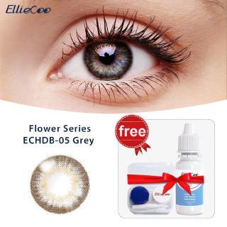 Cặp kính áp tròng EllieCoo màu nâu xám dòng Flower kèm thuốc nhỏ mắt 10ml thumbnail