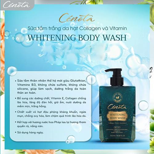 Sữa tắm trắng da hạt Collagen và Vitamin Whitening Body Wash, sữa tắm dưỡng ẩm Mã C01 cénota