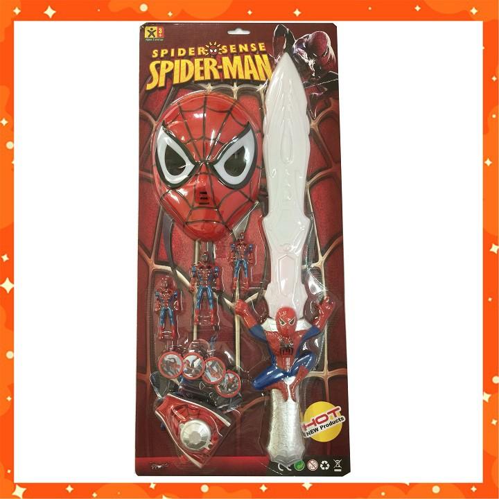 ĐỒ CHƠI NGƯỜI NHỆN - BỘ MÔ HÌNH KIẾM VÀ MẶT NẠ SPIDER MAN
