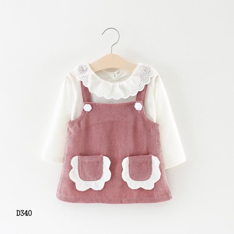 Set áo và yếm bé gái 7-14kg hàng Quảng Châu D340