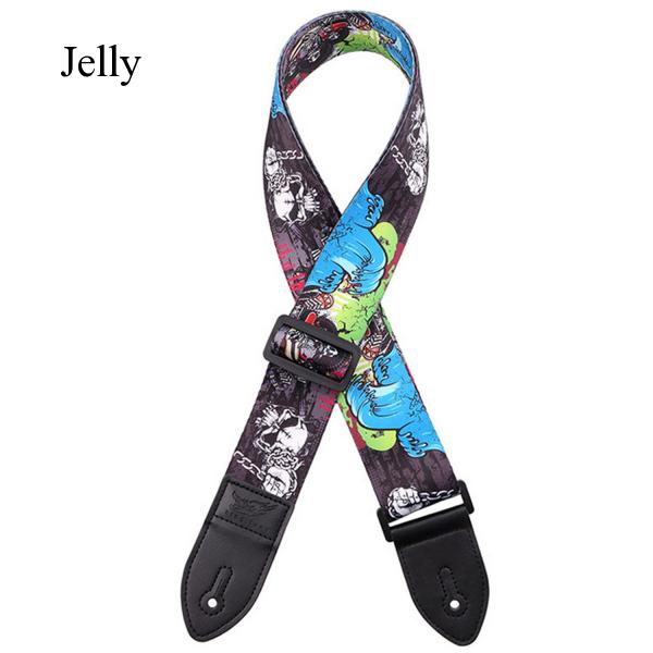 Fashion Colorful Adjustable Guitar Strap for Electric Acoustic Guitars Bass J619