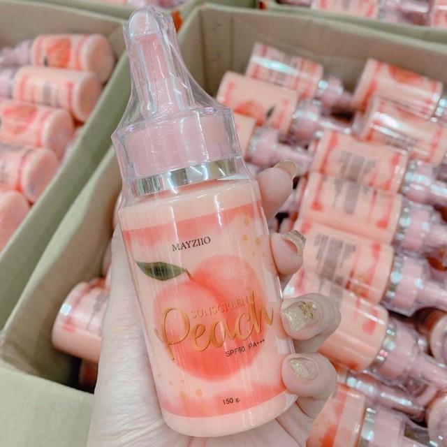 Lotion Chống Nắng, Dưỡng Trắng Da MAYZIIO PEACH Sunscreen SPF60 PA+++ 150g  - Thái Lan | Shopee Việt Nam