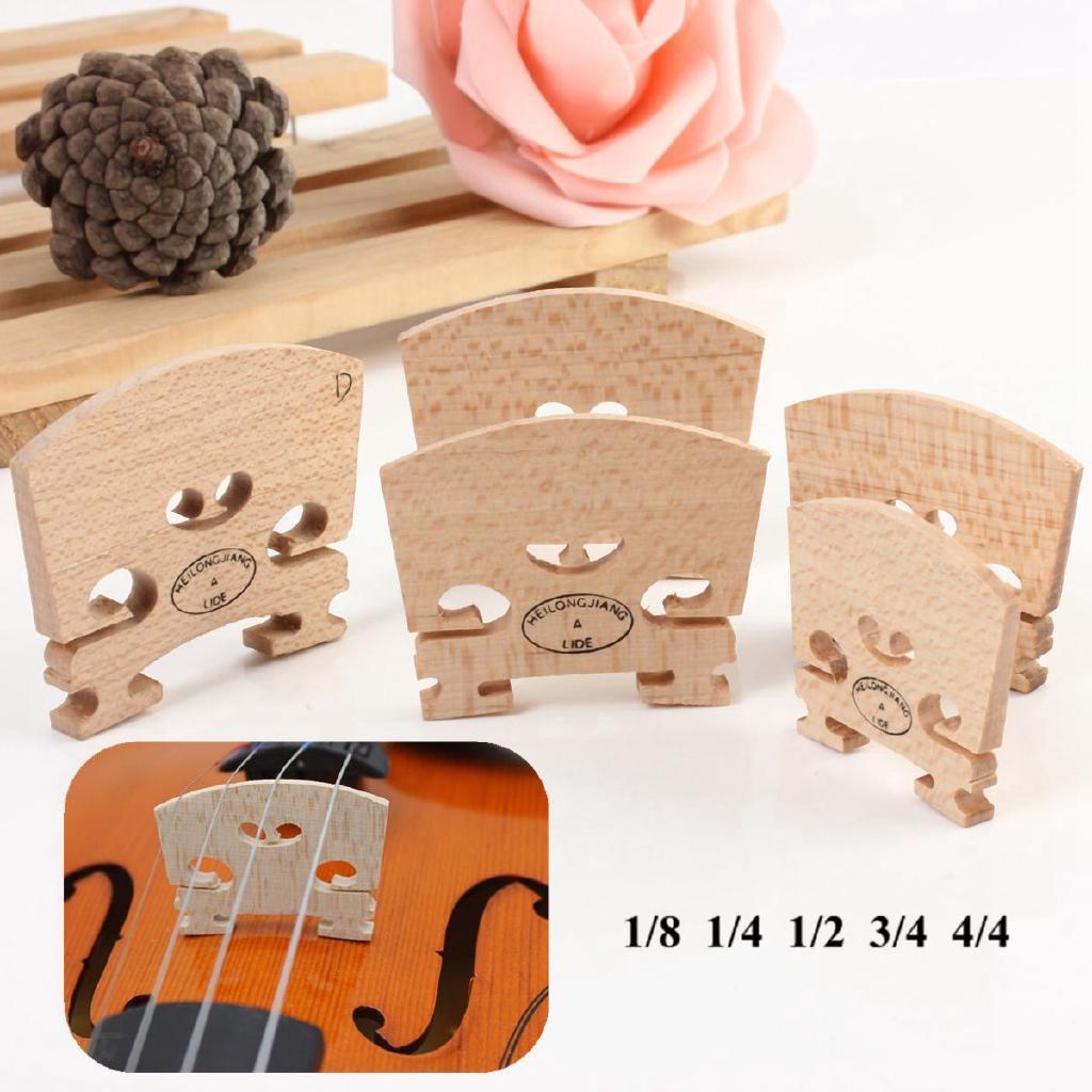 New Maple Violin Bridge Regular Type 1/8 & 1/4 & 1/2 & 3/4 & 4/4 Size