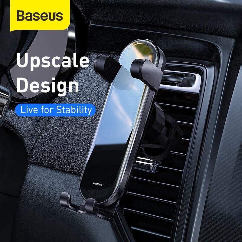 Giá đỡ điện thoại hiệu Baseus gắn khe thông hơi dùng cho xe ô tô tiện dụng