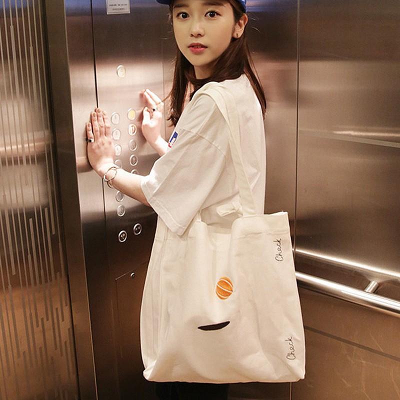 เพชรแฟชั่นเกาหลีออลจังฮาราจูกุเย็บปักถักร้อยศิลปะที่เรียบง่ายถุงผ้าใบ