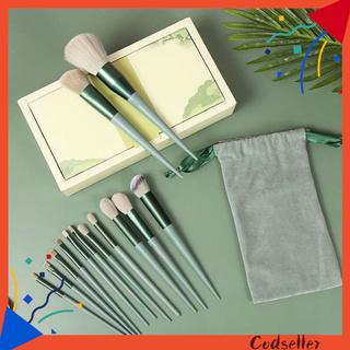 CODseller 13Pcs Contour Brush Comfortable Exquisite Stylish Makeup Brush for Beauty