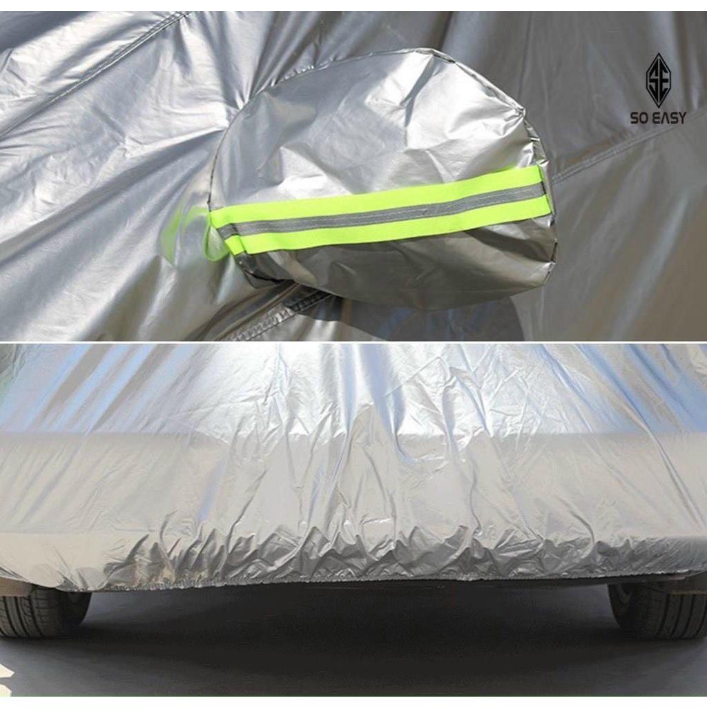 Bạt che ô tô 3 lớp thông minh cao cấp , bạt phủ trùm xe hơi 4 - 7 chỗ chống nước, chống xước, bạt vải dù oxford