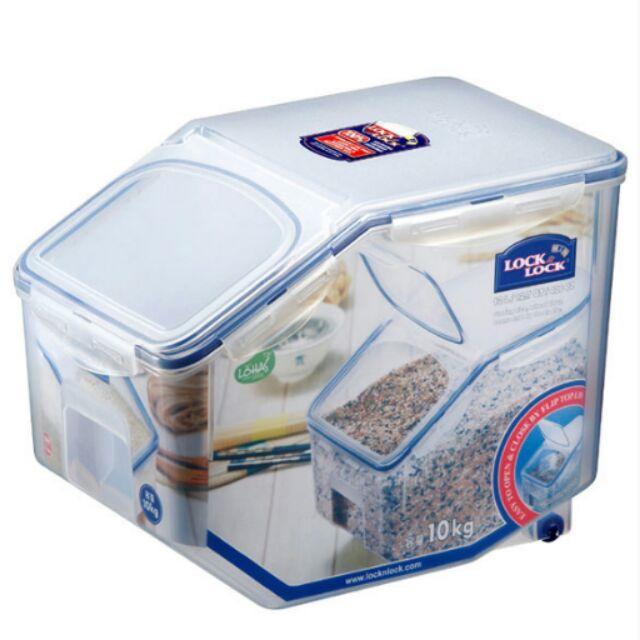 Thùng đựng gạo có bánh xe Locklock 10kg HPL510