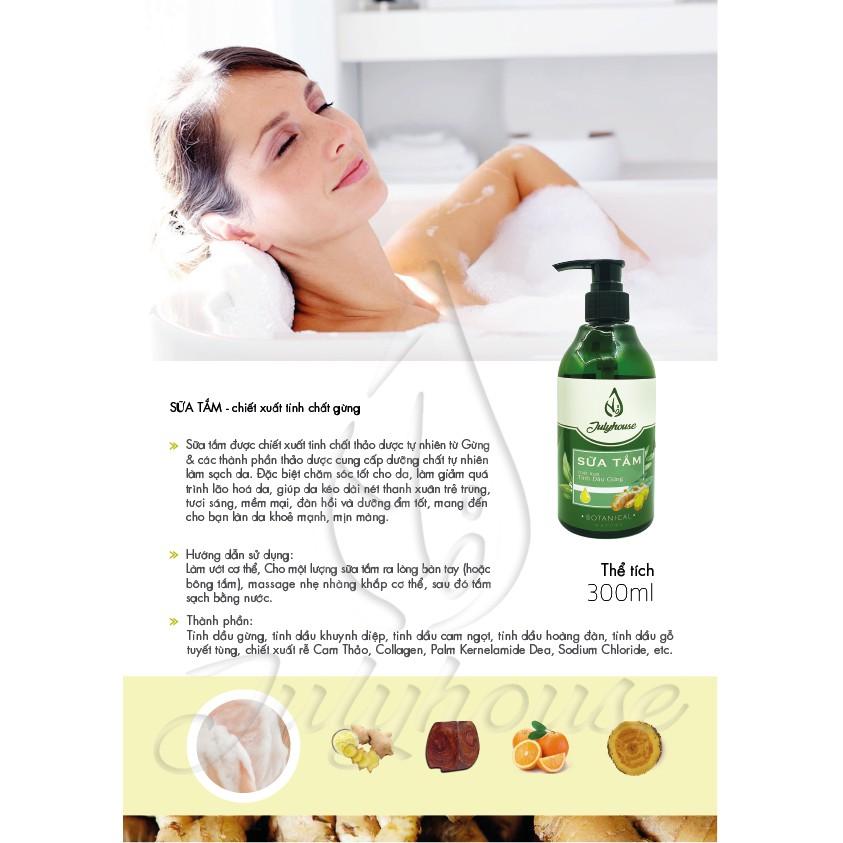 Sữa tắm collagen tinh dầu gừng 30ml JULYHOUSE