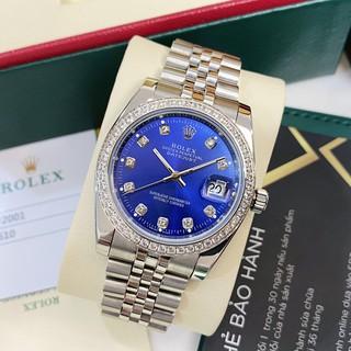 Đồng hồ nam Rolex mặt tròn đính viền đá máy cơ automatic dây kim loại cao cấp DH560 - Shop306 thumbnail