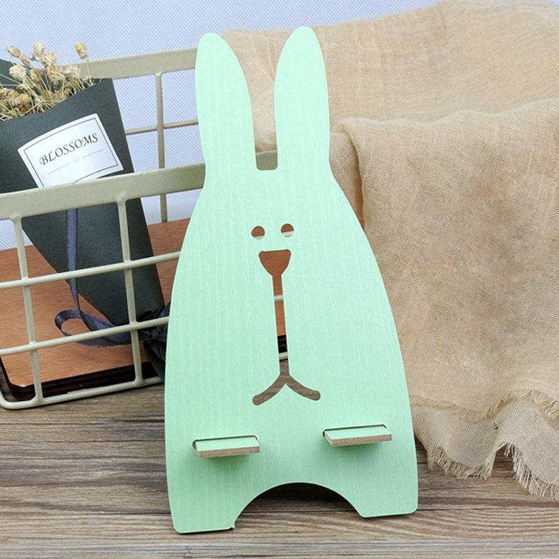 Giá đỡ bằng gỗ hình thỏ dễ thương cho điện thoại