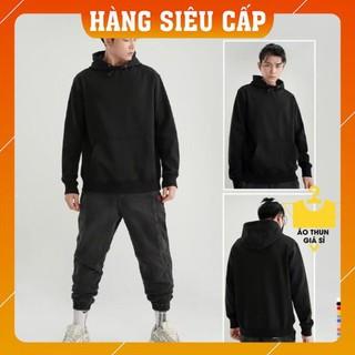 [Mặc Là SANG] Áo Hoodie Nam – Áo khoác nỉ có mũ thời trang – Màu đen