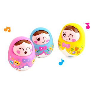 Baby toys rattles tumbler doll sweet bell music learning educational toys