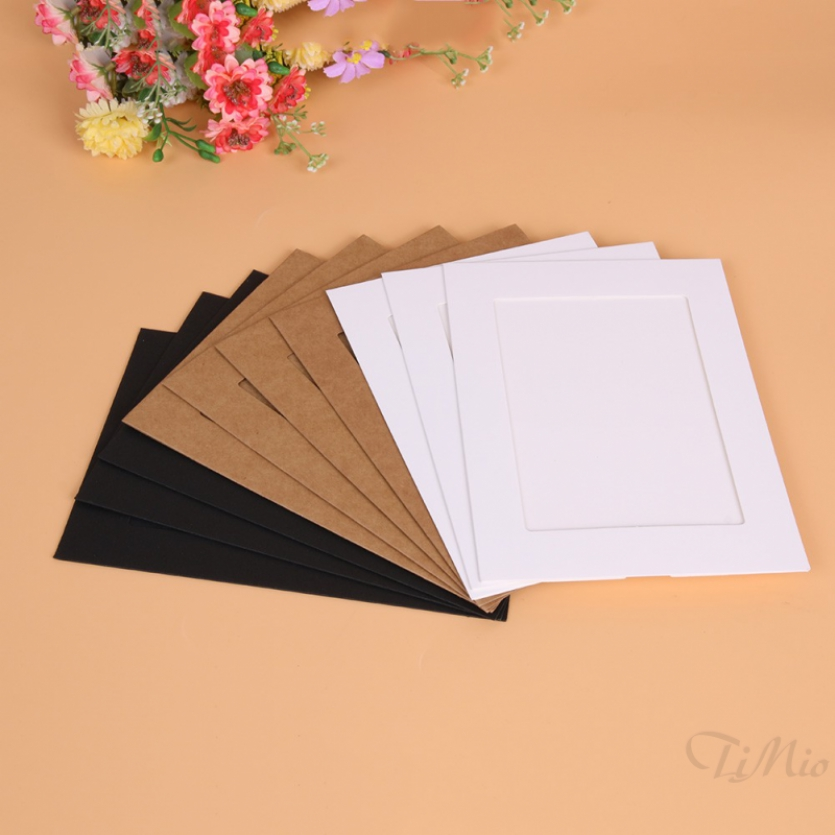 TIMIO PRO❀ 10pcs 7 inch Wall Hanging Photo Paper Frame Picture Display Art Modern Home
