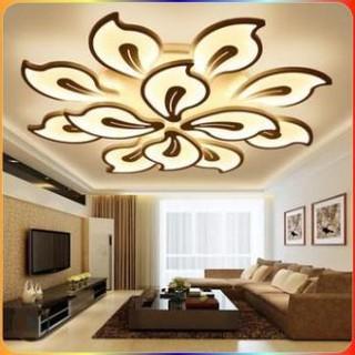 Đèn Ốp Trần - Đèn LED Ốp Trần chiếc lá 5,9,12 15 Cánh Trang Trí Phòng Khách, Đèn Led Trang Trí
