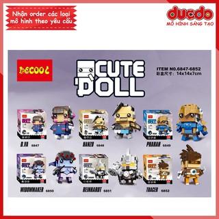 DECOOL 6847-6852 Bộ 6 Brick Headz nhân vật trong Overwatch - Đồ chơi Lắp ghép Minifigures Mô hình Mini BrickHeadz thumbnail