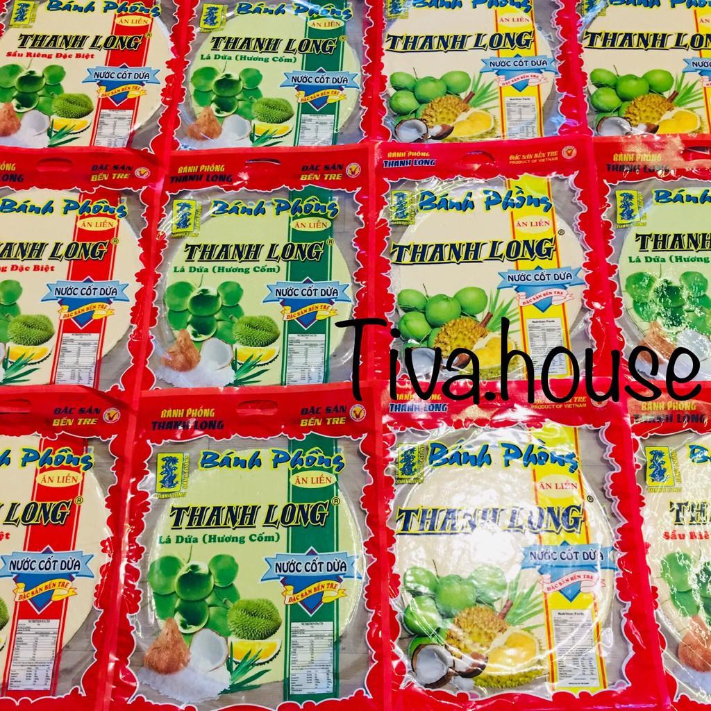 Bánh tráng sữa dạng bánh phồng sữa nước cốt dừa đặc sản Bến Tre Thanh Long đủ vị đủ món ăn vặt