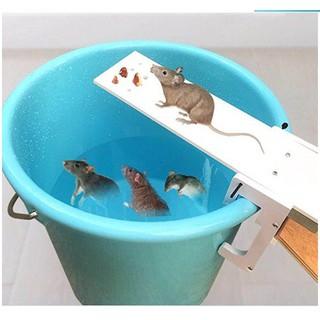Bẫy chuột bập bênh, không hóa chất, không độc hại dễ dùng trong nhà ngoài trời, ngoài vườn có hướng dẫn lắp đặt
