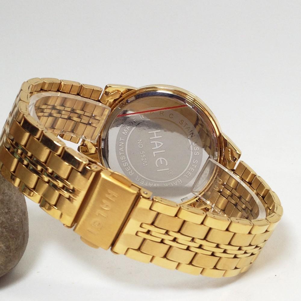 Đồng hồ nam HALEI 522MSKY dây thép không gỉ cao cấp (4 màu)