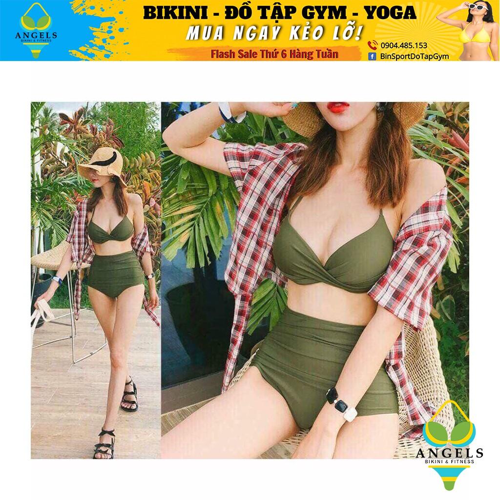Bikini Hai Mảnh 1 Dây Cạp Cao Nhiều Màu Siêu Hot BHV018