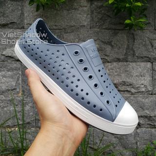 [Mã FASHIONRNK giảm 10K đơn 50K] Giày nhựa đi mưa nam nữ - Chất liệu nhựa xốp siêu nhẹ, không thấm nước - Màu xám đậm thumbnail