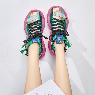 Giày Thể Thao Nữ Đế Dày Phối Tất Thời Trang 2020