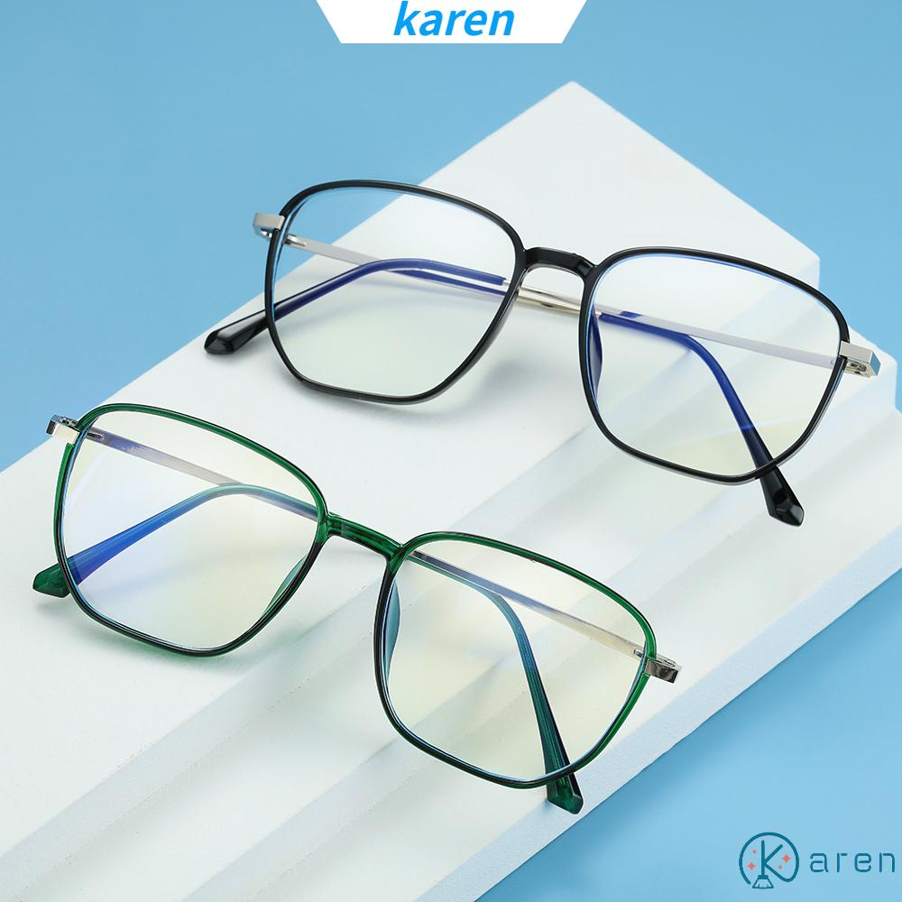👗KAREN💍 Unisex Blue Light Blocking Glasses Vision Care Safety Goggles Office Computer Goggles Square Frame Anti Eyestrain Retro Radiation Protection Eyewear Gaming Eyeglasses