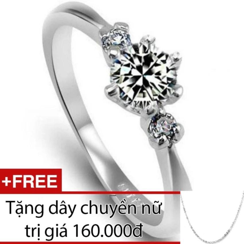 Nhẫn nữ Bạc Hiểu Minh nu082 Tặng dây chuyền nữ bạc giá 160k