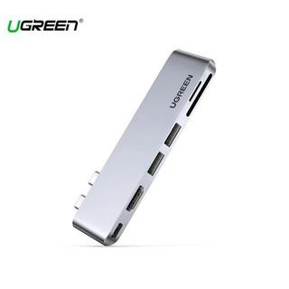 Hub chuyển chính hãng Dual USB-C to HDMI+ USB 3.0 + Card Reader + Type C Ugreen 80856