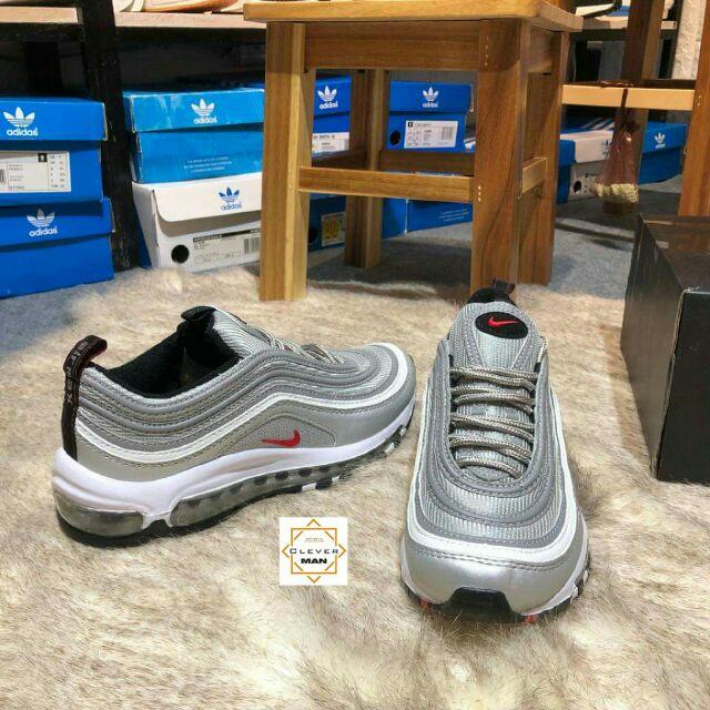 (Có sẵn) giày thể thao NIKE AIR MAX 97 Silver Xám Bạc