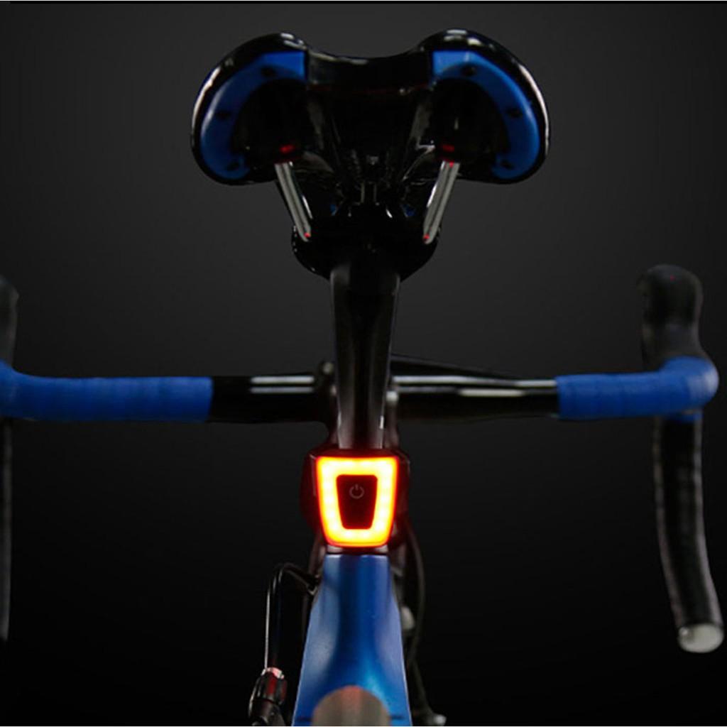 Đèn LED Báo Hiệu Cảnh Báo- Đèn Hậu Xe Đạp 5 Chế Độ Sáng Nhấp Nháy Sạc Điện  Usb Chống Nước Chiếu Sáng Đến 56 Giờ