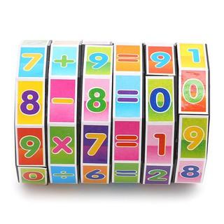 Đồ chơi khối ma thuật, bé phải xoay các vòng để ra phép tính đúng, giúp phát triển khả năng học toán