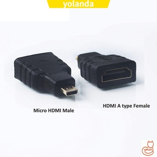 ☆YOLA☆ HDTV Micro HDMI To HDMI|Plated Converter Male To Female 1080P Connector 1.4V Adapter Type D To Type A
