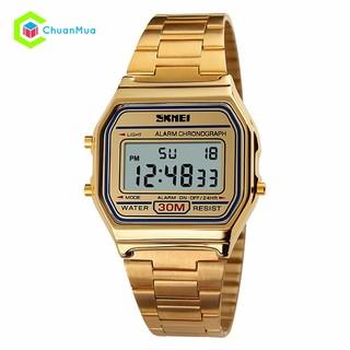 Đồng hồ Trẻ em (có size nữ) Skmei điện tử DHA357 - Vàng/Bạc/Vàng Hồng