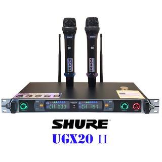 Bộ micro shure UGX20II loại I dành cho người yêu tiếng hát và hiểu micro