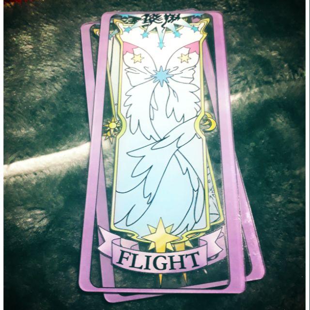 Flight- Thẻ bài Sakura trong suốt-Sakura clear card