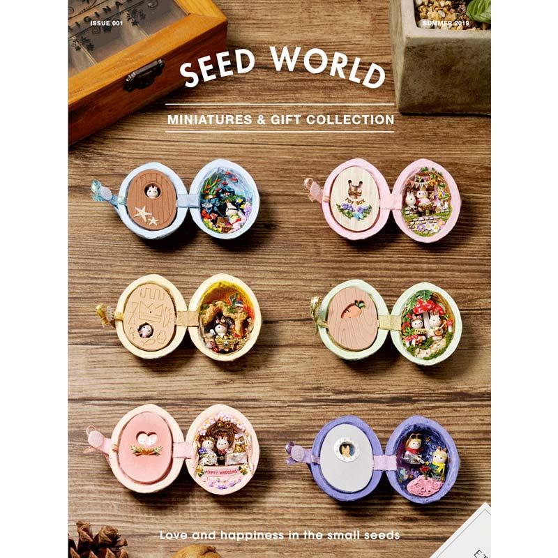 DIY Walnut seed Dollhouse Furniture Miniature Wooden Miniaturas Doll House Box Theatr Toys for Children Birthday Gifts