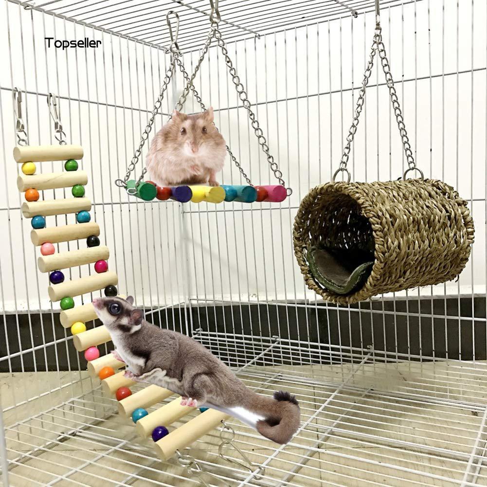 Set 3 món đồ chơi treo lồng chim chất lượng cao