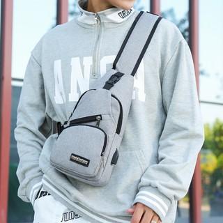 Túi đeo chéo nam nữ thời trang siêu nhẹ có sạc điện thoại TDCN08 , balo nam