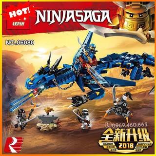 Đồ Chơi Lego LEPIN 06080 – Lắp Ráp Ninja Rồng Xanh Dương – 493 Chi Tiết hàng Quảng Châu
